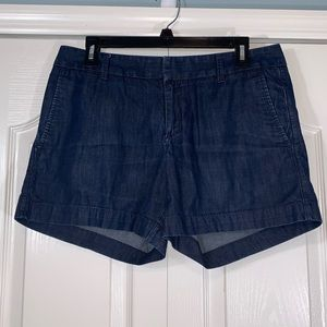 Banana Republic Dark Wash Cotton Shorts